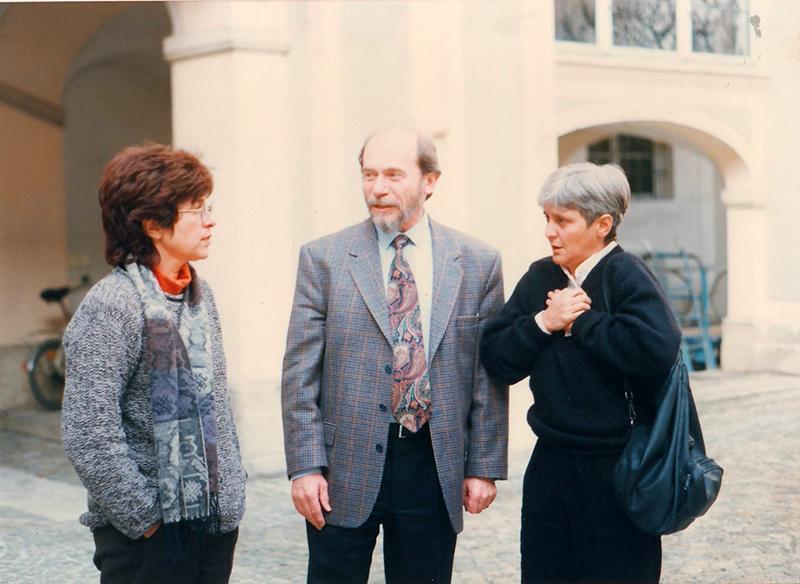 Con Karl Kohut y Verónica Jaffe. Simposio de Eichstätt, Alemania, 1996.