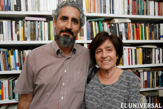 Con Garcilaso Pumar, Librería Lugar Común, 2014.