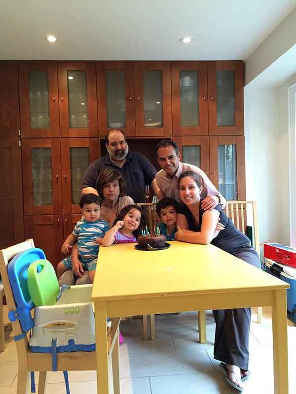 Celebrando mis 70 años en Toronto, 6 de julio de 2015.