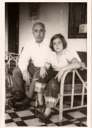 Con mi padre, 1955.