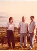 Con Gastón y Régulo Hernández en un congreso de historia en Santander, 1982.